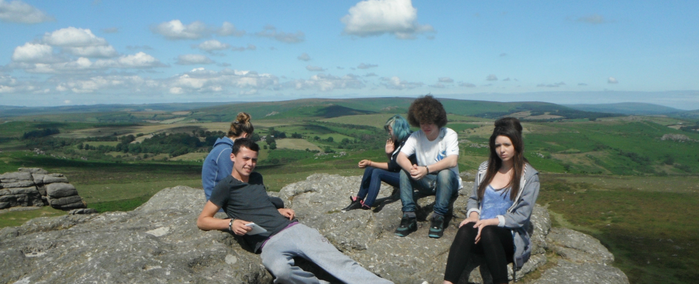 students on dartmoor